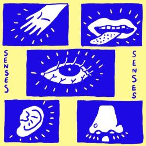 a digital illustration of the five senses